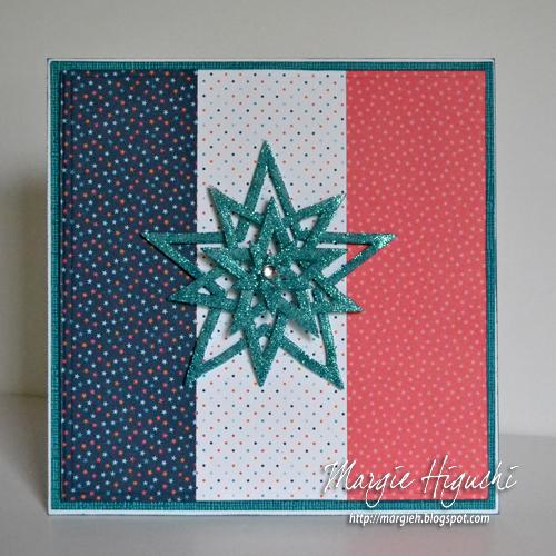 3DFoamStarBurst 6x6 Card by Margie Higuchi