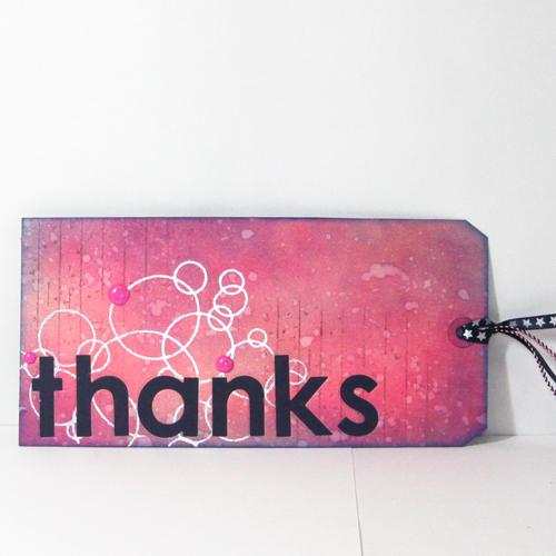 Mixed Media Gift Tag - Thanks Tag by Angela Ploegman