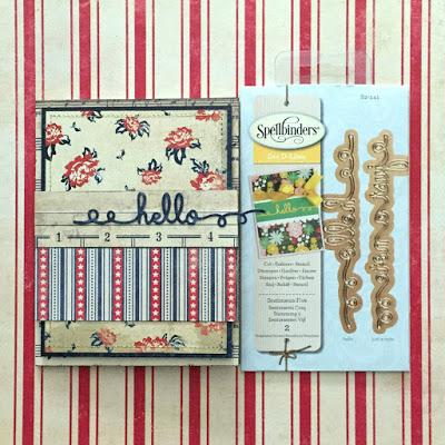 Hello Card tutorial Erica Houghton 3L - Spellbinders Blog Hop