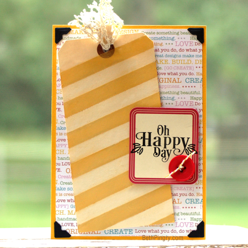 Happy Day Tag with Pigment Powder by Beth Pingry