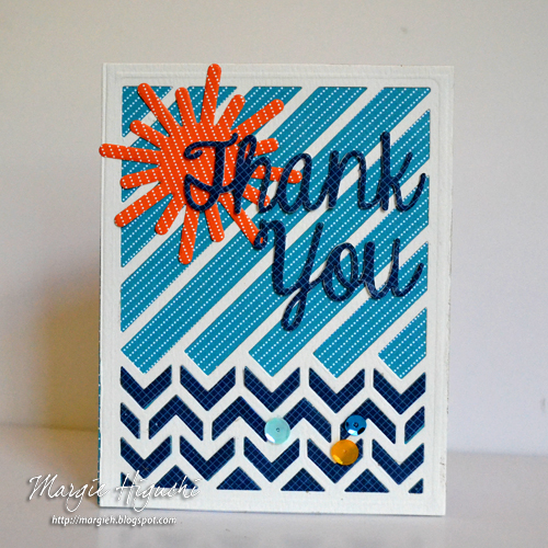 Summer Thank You Card Using 3D Creative Foam Sheets by Margie Higuchi