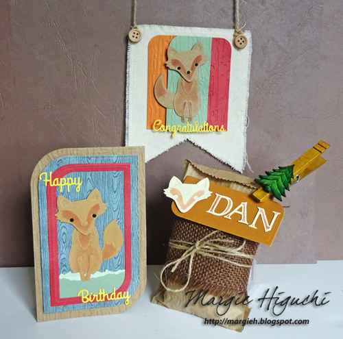 Woodland Happy Birthday Shaped Card Ensemble by Margie Higuchi for Scrapbook Adhesives by 3L Blog