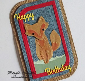 Woodland Happy Birthday Shaped Card Angle Shot by Margie Higuchi