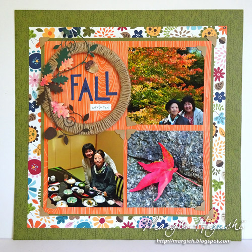 Fall Scrapbook Page by Margie Higuchi
