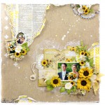Summer Wedding Scrapbook Page by Asia King