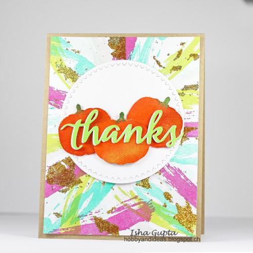 Thanks Card by Isha Gupta for Scrapbook Adhesives by 3L Blog