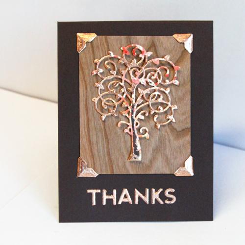 angela ploegman foil thanks cards