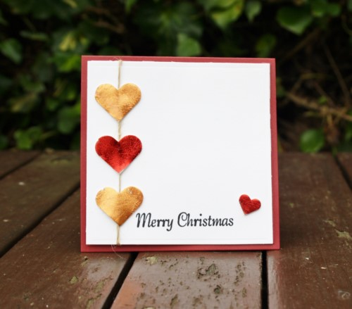 CE Christmas Hearts 1 Square