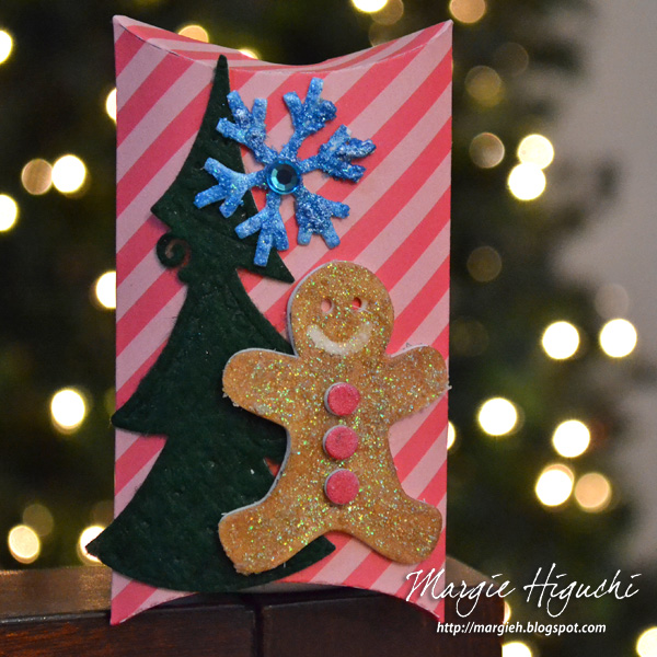 3D Foam Shapes Holiday Pillow Box Tutorial by Margie Higuchi