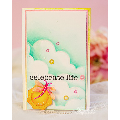 Celebrate Life card by Michele Kovack for Scrapbook Adhesives by 3L Blog