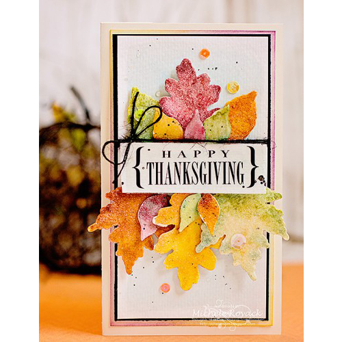 Happy Thanksgiving card by Michele Kovack for Scrapbook Adhesives by 3L
