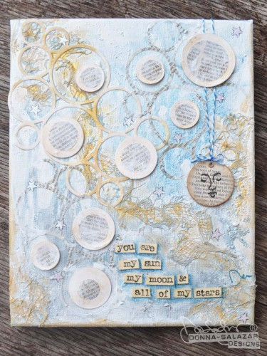 Donna Salazar with Scrapbook Adhesives by 3L canvas