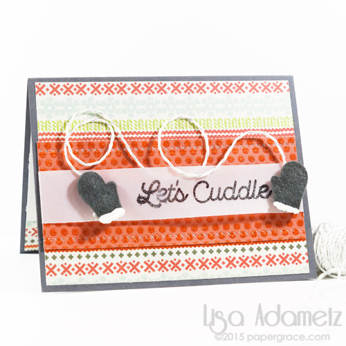 Let's Cuddle Card by Lisa Adametz