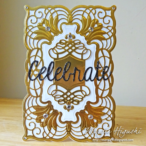 Celebrate Shaped Card and Adhesive Sheets Tutorial by Margie Higuchi