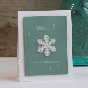 AJOtto-Snowflake Card for Scrapbook Adhesives byn 3L
