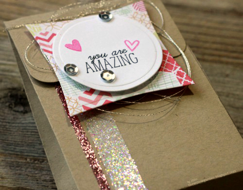 You are Amazing Gift Pouch tutorial by AJ Otto for Scrapbook Adhesives by 3L
