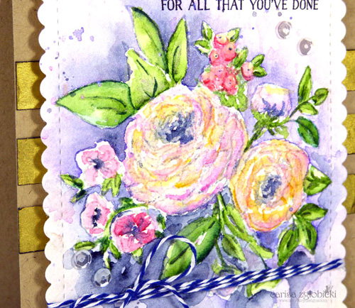 CarsiaZglobicki GDT WithThanksWaterColorAndPigmentPowderGoldCard Feb212016 CloseUp