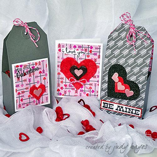 3D Foam Hearts Valentines Treat Box Ensemble by Judy Hayes