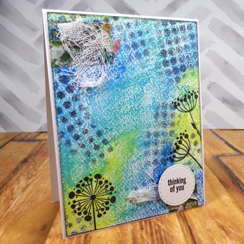 Oil Pastel Mixed Media Card Tutorial by Carisa Zglobicki