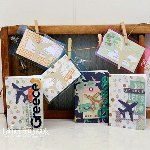 Altered Travel Notebooks and Luggage Tags by Laurel Seabrook