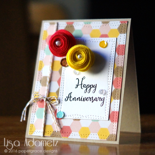 Happy Anniversary Card tutorial by Lisa Adametz for Scrapbook Adhesives by 3L