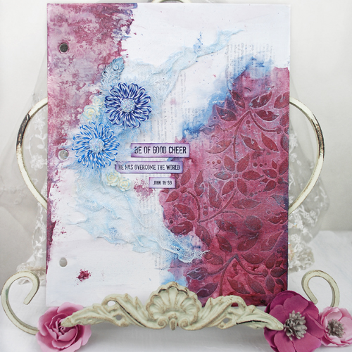 Twine Flower Tutorial - Journal Page by Tracey Sabella for Scrapbook Adhesives by 3L