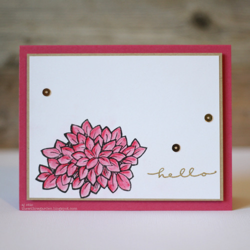 Floral Hello Card by AJ Otto