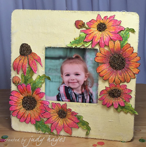 Daisy Mix Altered Frame by Judy Hayes
