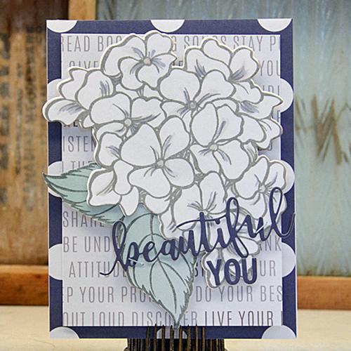 Beautiful You Hydrangea Garden Card by Laurel Seabrook