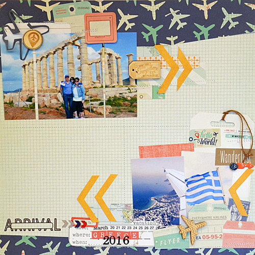 Travel Themed Layout by Laurel Seabrook