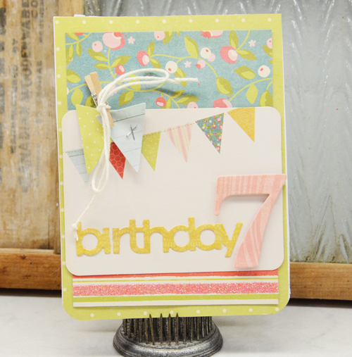 Birthday 7 Card by Laurel Seabrook