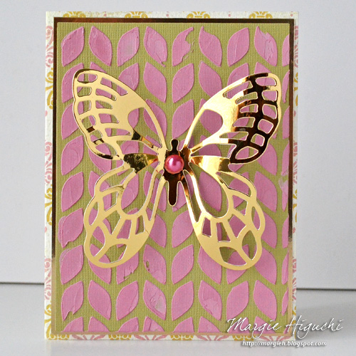 Dimensional Mixed Media Background All Occasion Card Tutorial by Margie Higuchi