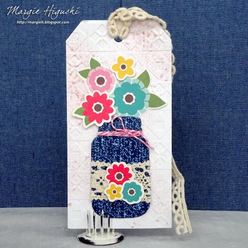 Tissue Tape Jar Bookmark by Margie Higuchi