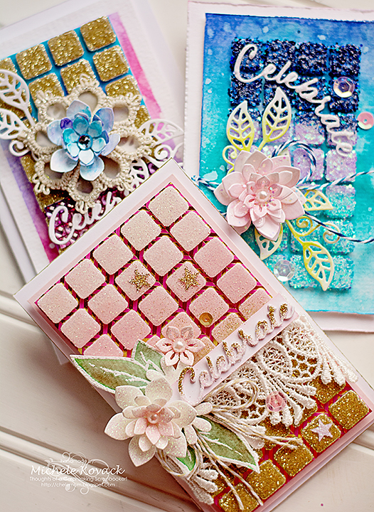 Adhesives Ain't Just for Adhering Background Texture Tutorial by Michele Kovack for Scrapbook Adhesives by 3L