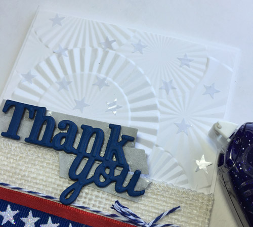 Patriotic Thank You Card by Judy Hayes for Scrapbook Adhesives by 3L