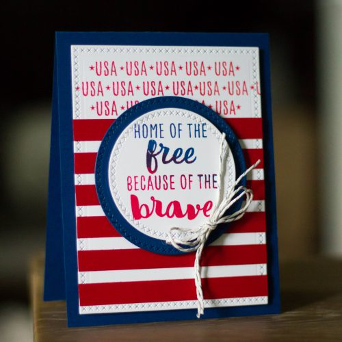 Home of the Brave card by Latisha Yoast for Scrapbook Adhesives by 3L