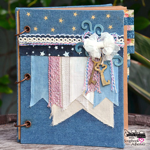 Use A Bit Of Everything To Make A Denim Journal by Donna Salazar