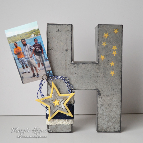 Embellished Fathers Day Metal Letter Home Decor by Margie Higuchi