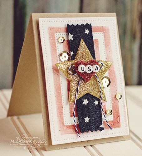 Fourth of July Card Tutorial by Michele Kovack for Scrapbook Adhesives by 3L
