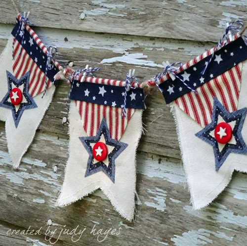 Americana Star Banner tutorial by Judy Hayes for Scrapbook Adhesives by 3L