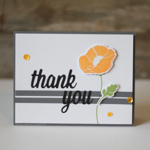 Black Thank You Poppy Card by AJ Otto for Scrapbook Adhesives by 3L and MFT Blog Hop JUL16