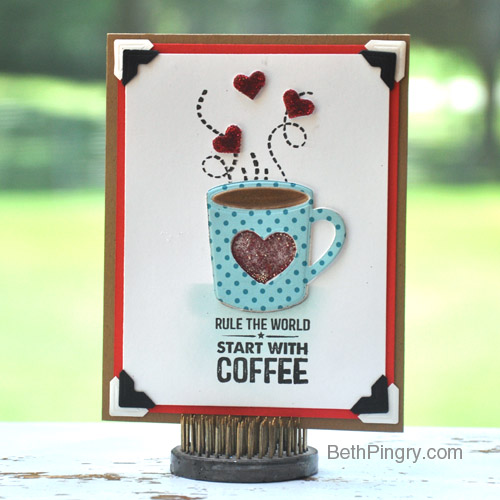 Coffee Card by Beth Pingry for Scrapbook Adhesives by 3L and MFT Blog Hop