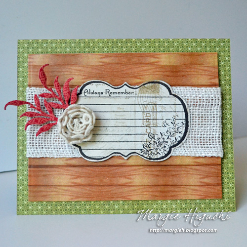 Always Remember Card by Margie Higuchi for Scrapbook Adhesives by 3L