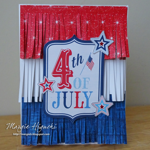 Fringed 4th of July Card by Margie Higuchi