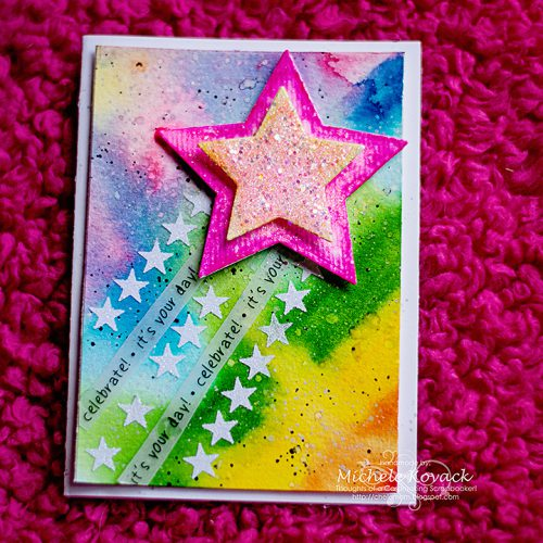 Watercolor and Stars with 3D Foam Creative Sheets! Card by Michele Kovack for Scrapbook Adhesives by 3L
