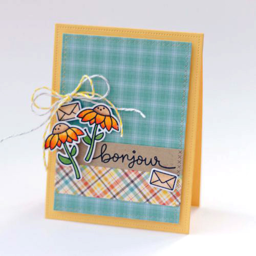 Bonjour card by Latisha Yoast for Scrapbook Adhesives by 3L Blog