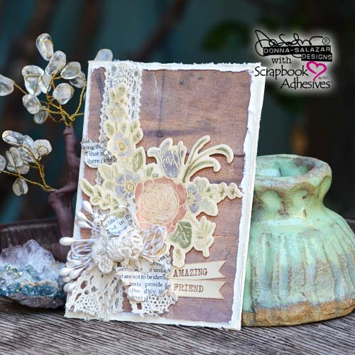 Card Making With DIY Watercolors Video Tutorial by Donna Salazar for Scrapbook Adhesives by 3L