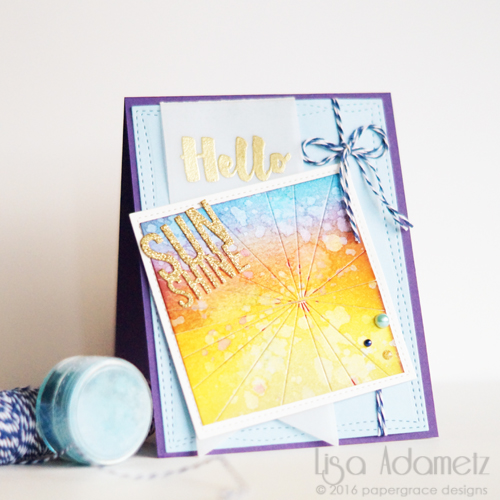 Hello Sunshine Card Tutorial by Lisa Adametz for Scrapbook Adhesives by 3L