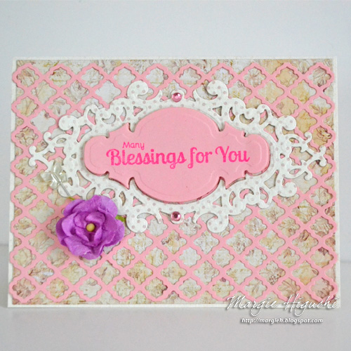 Many Birthday Blessings Card by Margie Higuchi for Scrapbook Adhesives by 3L