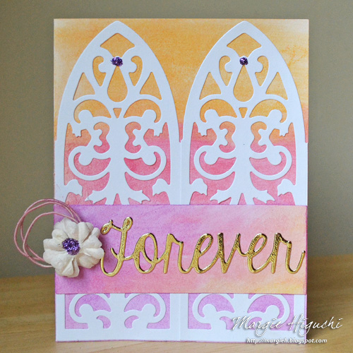 Forever Wedding Card Tutorial using Adhesive Sheets by Margie Higuchi for Scrapbook Adhesives by 3L